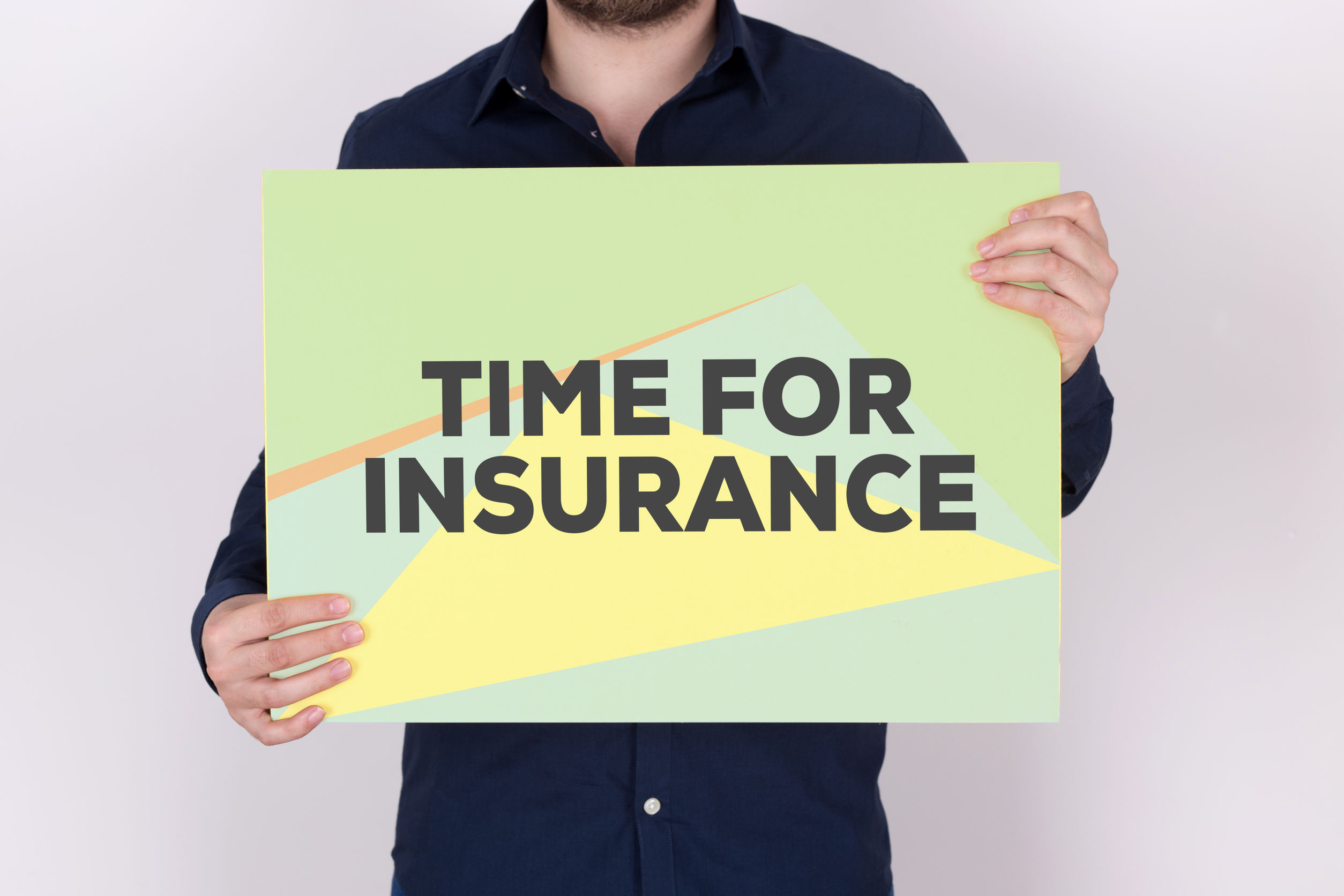 time for insurance concept